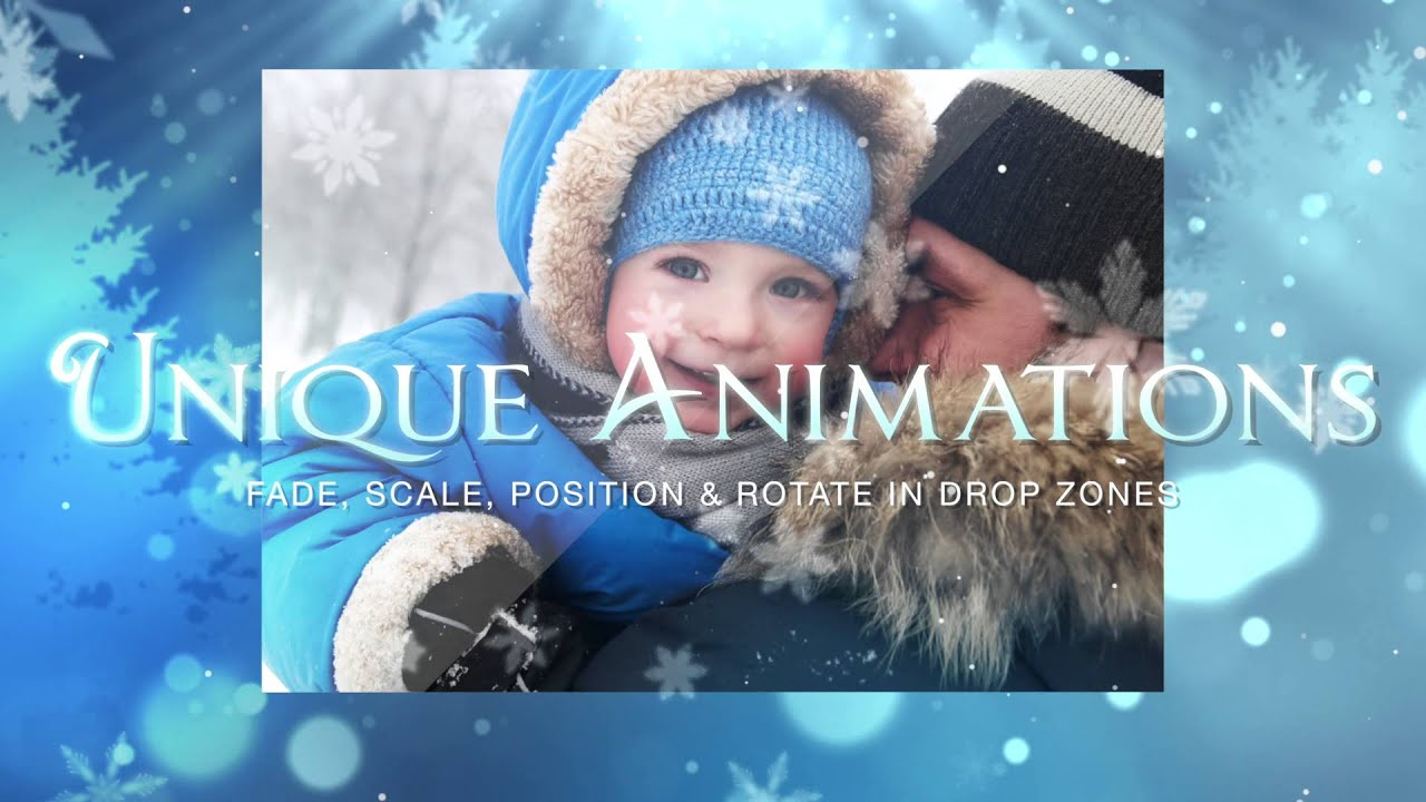 pixel film studios blue christmas holiday theme package final cut pro x fcpx