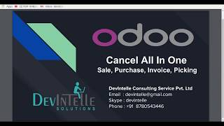 Odoo All in one Cancel Sale,Purchase,Picking and Invoice and set to draft