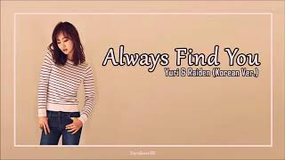 Yuri X Raiden Always Find You (Korean Ver.) Lyrics [HAN|ROM|ESP] - Stafaband