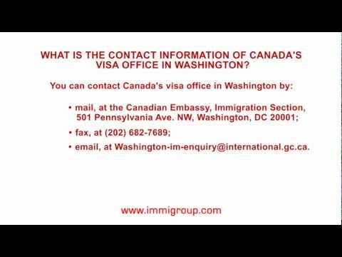 What is the contact information of Canada's visa office in Washington?
