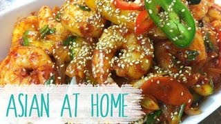 Stir Fry Recipe : Spicy Stir Fry Shrimp Recipe : Korean Food : Shrimp Recipe : Asian At Home
