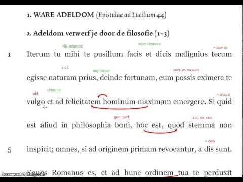 Seneca, Epistulae ad Lucilium 107, a8-12 (deel par. 2)из YouTube · Длительность: 7 мин34 с