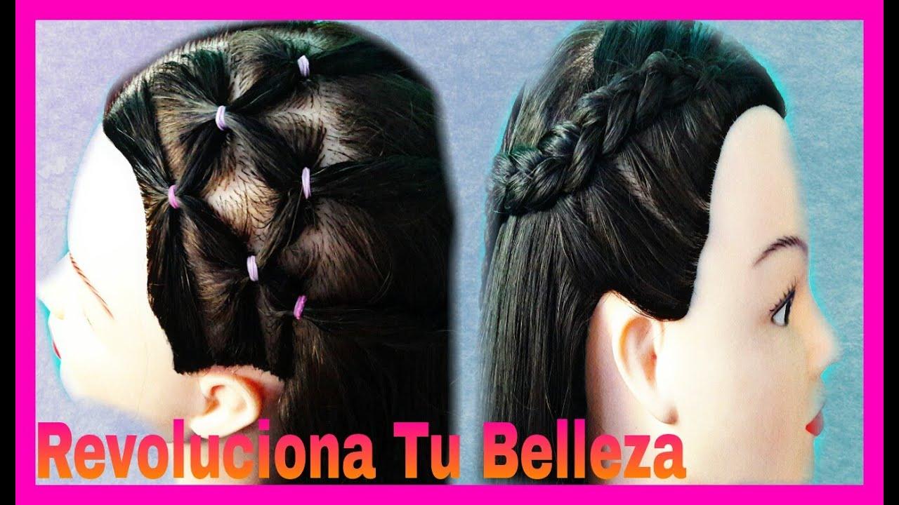 peinado para nia con banditas elasticas y trenza peinados de moda peinados faciles y rapidos