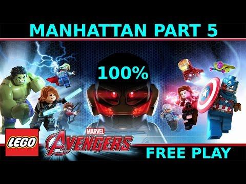 Lego Marvel Avengers Manhattan Part 5 - 100% Walkthrough Free Play