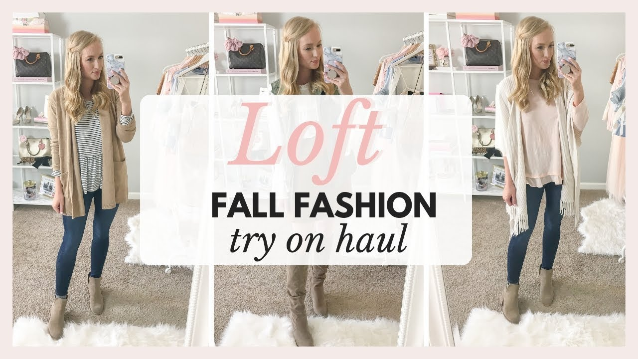 LOFT TRY ON HAUL: Work to Casual Fall Outfits 2018 | Amanda John 1
