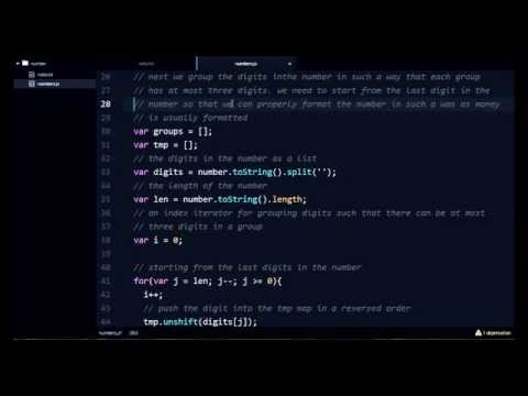 Live Coding Session in NodeJS - Beautifying Numbers for Forums and Blogs