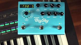 Strymon BigSky Reverb - synth audio demo