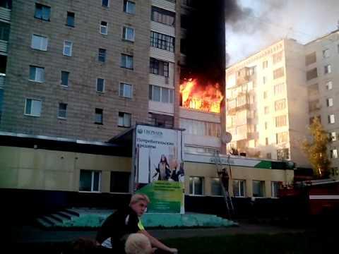 Пожар в Стрежевом