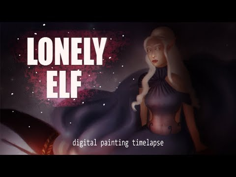 Painting A Female Elf | Digital Painting Timelapse