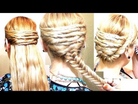 peinados fciles con cruzados y trenzas espiga quick and easy elegant braid hairstyle and updo youtube