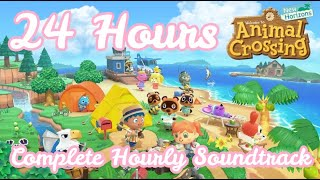 24 Hours In Animal Crossing New Horizons | Full Hourly Soundtrack | Complete Day | KawaiiBeth