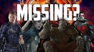 Avengers: Infinity War - Every Missing Character (And Where They Were)