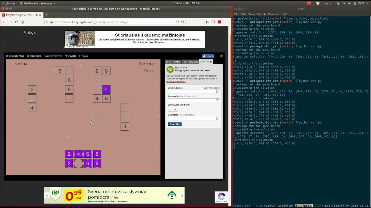 Adding controls and bot logic - Part 3 of Solving Puzlogic puzzle