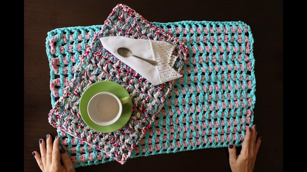 Mantel individual o alfombra de baño con trapillo. - YouTube
