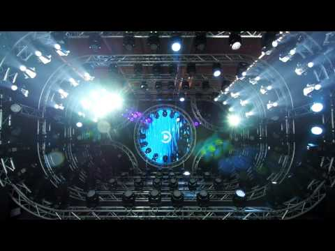 Light show at prolight and sound 2017 in Frankfurt