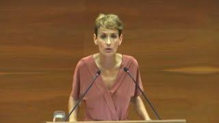 """Chivite defiende la """"pluralidad"""" de Navarra en la sesión de investidura"""