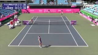 ジャパンウィメンズオープンテニス2015  女子シングルス 1回戦 クルム伊達公子 VS 土居美咲