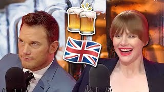 Chris Pratt & Bryce Dallas Howard Play The BIG Jurassic Pub Quiz In British Accents