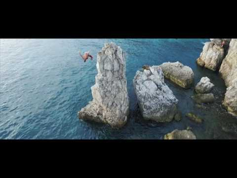 Cliff diving South of France