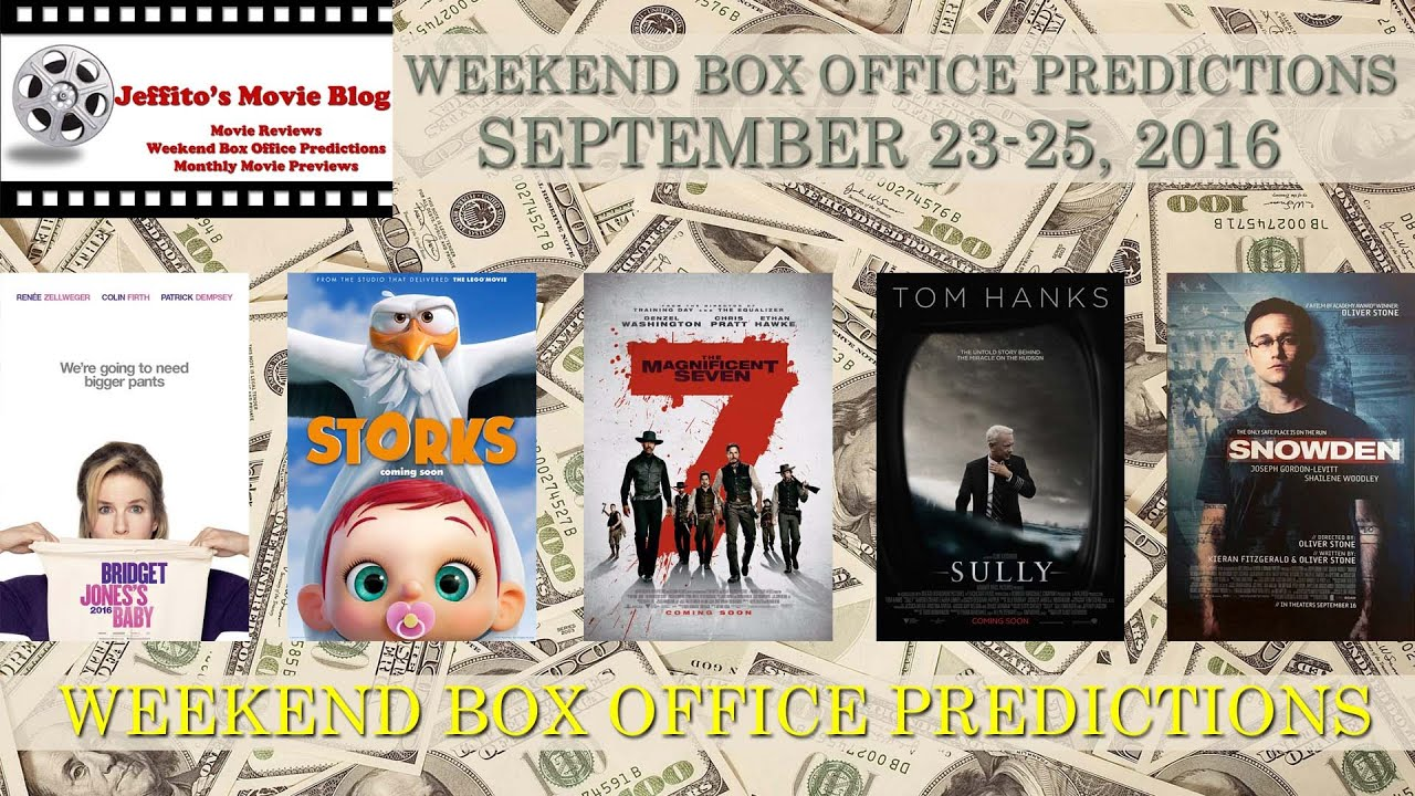 Weekend box office predictions september 23 25 2016 youtube - 2016 box office predictions ...