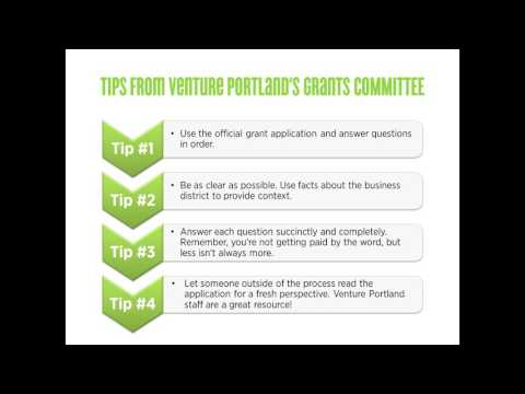 GET FUNDED: Tips From Venture Portland's Grants Committee