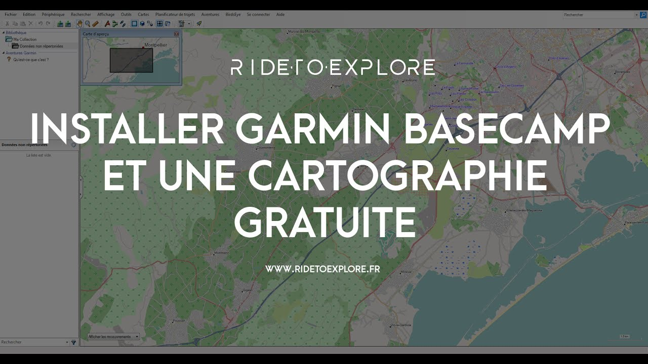 Installer Garmin Basecamp Et Une Cartographie Gratuite Youtube