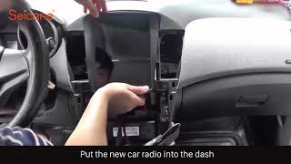 How To Install And Upgrade The 10 4 Inch Touch Screen Android Car Radio Removal For Chevrolet Cruze