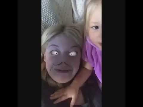 Asustando niños con filtros de snapchat aterradores xD