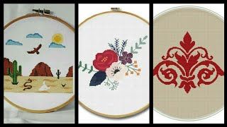 Beautiful cross stitch hand embroidery unique patterns design for you part two
