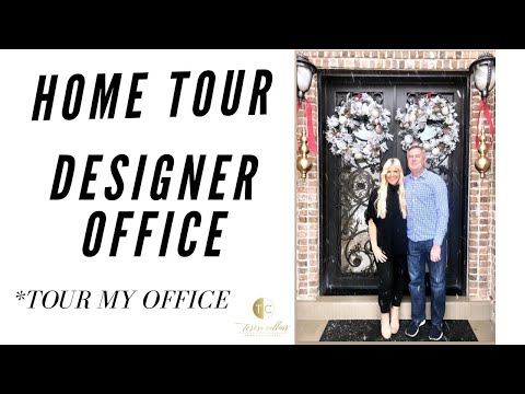 HOUSE TOUR- BEAUTY MEETS FUNCTION- Where Do I Design At Home? Teresa Collins Home Office Tour