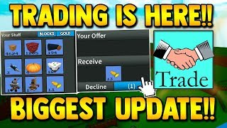 TRADING IS HERE!! (Blocks, Gold & Items) *CONFIRMED* | Build a boat for Treasure ROBLOX