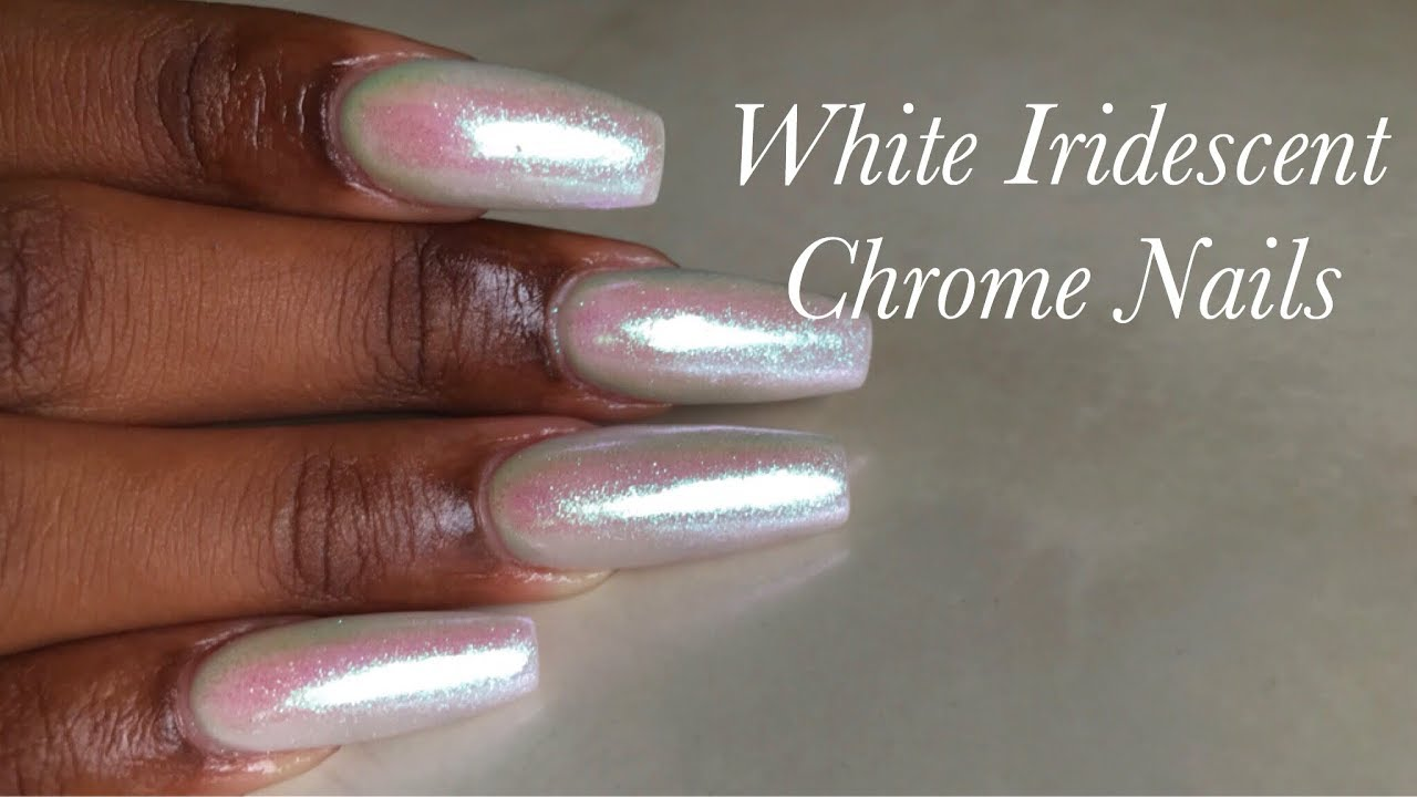 Acrylic Nails at Home| How To: Infill & Redesign| Simple White ...