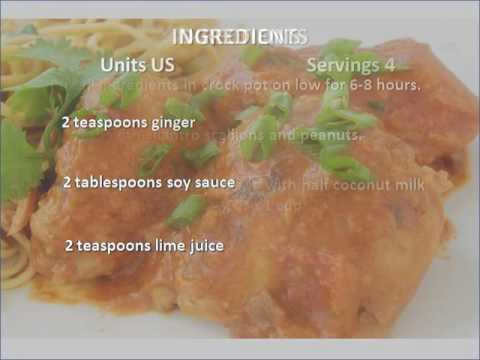 Crock Pot Thai Chicken Thighs Recipe