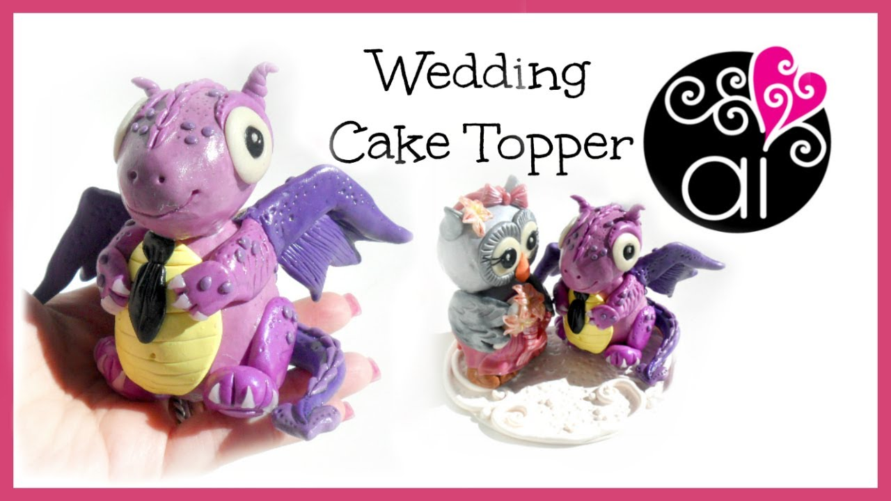 Wedding Cake Topper | Polymer Clay Tutorial | Draghetto | DIY Little ...
