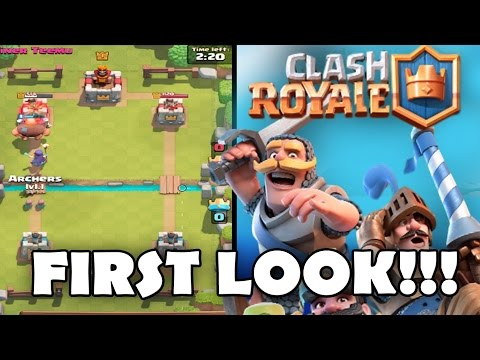 NEW SUPERCELL GAME! CLASH ROYALE GAMEPLAY - My First Look!