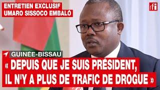 Guinée-Bissau : « Depuis que je suis président, il n'y a plus de trafic de drogue » • RFI
