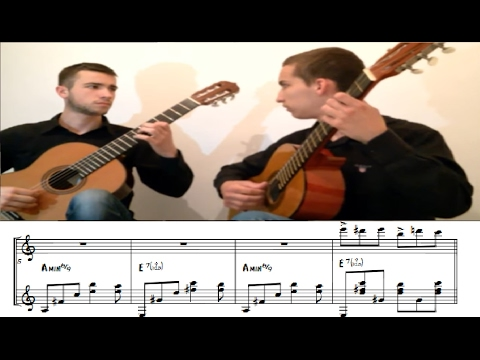 Balkan Guitar Duo - Fur Elise | Flamenco/Blues ( Sheet music)