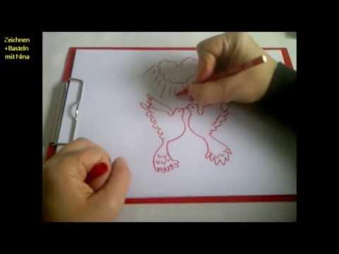 Quilten Basteln Malen Nahen Loved Birds Hochzeit Fingerabdruck