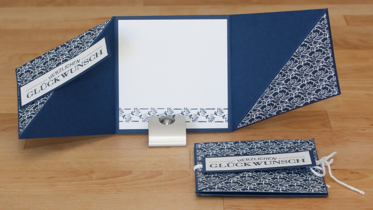 Triangle Tri Fold Card Dreifach Gefaltete Dreieckskarte
