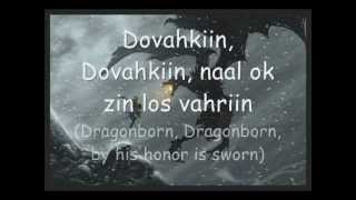 Skyrim: The Dragonborn Comes (Malukah) Lyrics