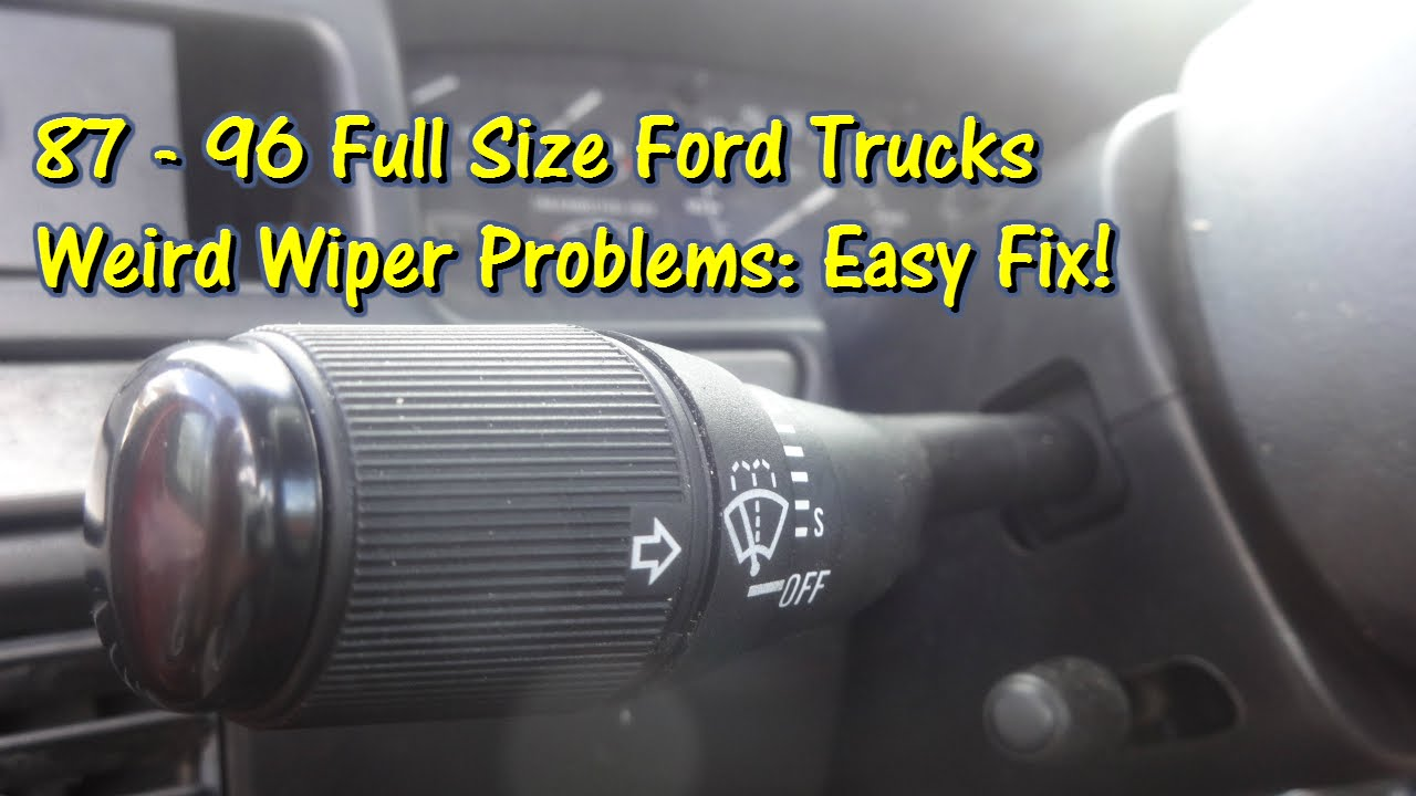 Easy Fix Ford Truck Wiper Issues Solved By Gettinjunkdone Youtube