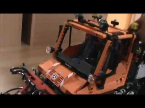 lego technic video nr 2 unimog u400 8110 mit komplett led beleuchtung youtube. Black Bedroom Furniture Sets. Home Design Ideas