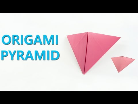 Origami Pyramid | How to make Paper Pyramid | Easy origami pyramids for beginners making |DIY