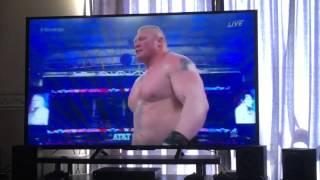 WWE wrestle mania 32 Brock lesnar vs Dean Ambrose full match highlights