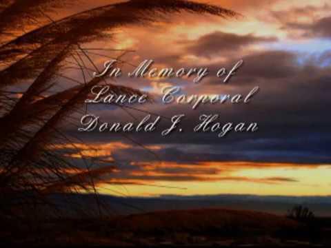 Lance Cpl.  Donald J.  Hogan Memorial Tribute