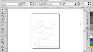 CorelDraw 9 for PC Scenario -view manager - technical drawing