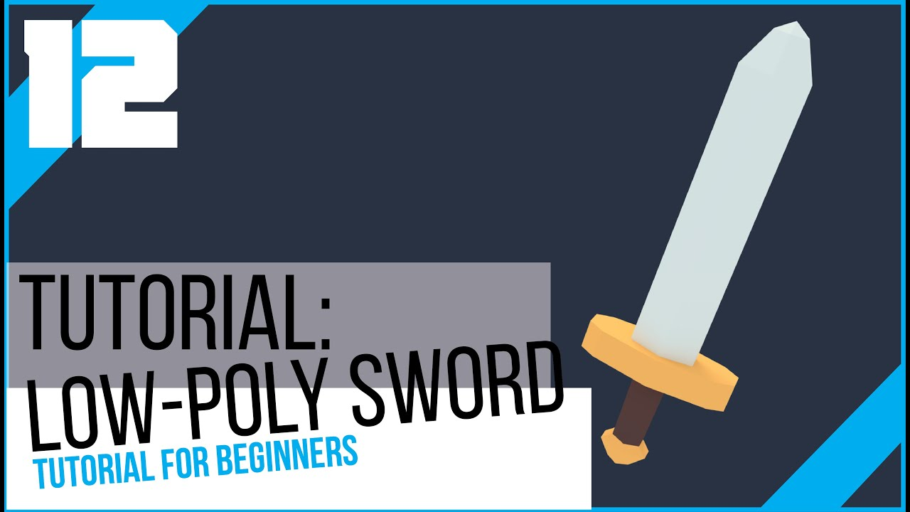 Blender tutorial for beginners how to make a low poly sword blender tutorial for beginners how to make a low poly sword youtube baditri Choice Image