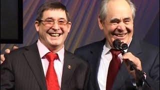 Два М. Шаймиева поздравляют Салавата Фатхетдинова. Сначала один, потом второй.