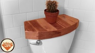 Wooden Toilet Tank Cover