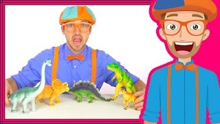Dinosaurs for Kids with Blippi | Dinosaur Song and Toys